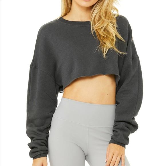 a702d6e8efa ALO Yoga Tops | Extreme Crop Sweatshirt | Poshmark